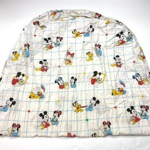 Vintage 80s Dundee Disney Babies Crib Bed Sheet